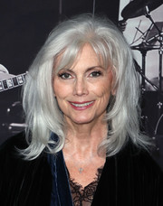 Emmylou Harris looked beautiful with her layered silver hair while attending JONI 75: A Birthday Celebration.