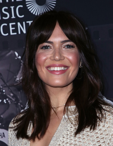 Mandy Moore framed her face with a stylish layered cut when she attended JONI 75: A Birthday Celebration.