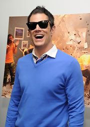 Johnny showed off cool ray bans while hitting the 'Jackass' premiere.