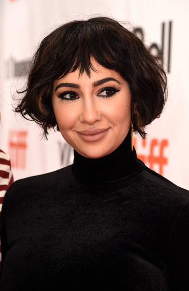 Jackie Cruz Bob [hair,face,hairstyle,eyebrow,black hair,lip,chin,forehead,head,beauty,jackie cruz,this changes everything premiere,roy thomson hall,toronto,canada,red carpet,toronto international film festival,premiere]
