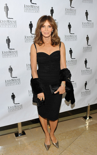 Jaclyn Smith Cashmere Stole [jaclyn smith,arrivals,john wayne cancer institutes 26th annual odyssey ball,clothing,dress,cocktail dress,little black dress,shoulder,fashion,joint,fashion model,footwear,premiere,john wayne cancer institutes 26th odyssey ball show,beverly hills,california,beverly hilton hotel]