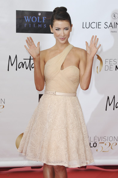 Jacqueline MacInnes Wood One Shoulder Dress