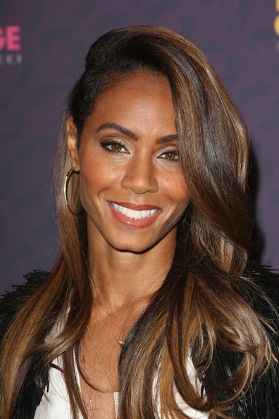 Jada Pinkett Smith Long Side Part