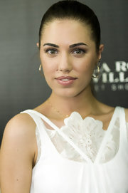 Amber Le Bon wore a pair of hoop earrings at the 'Barcelona I Love You' launch.