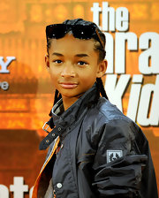 Jaden showed off his cool shades while attending the photocall for 'The Karate Kid'.