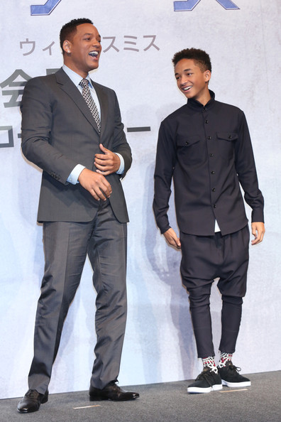 Jaden Smith Button Down Shirt [will smith,jaden smith,fashion,suit,white-collar worker,event,footwear,fashion design,formal wear,shoe,style,earth,ritz carlton tokyo,japan,press conference,after earth press conference]