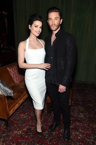 Jaimie Alexander Halter Dress [fashion,suit,dress,formal wear,event,shoulder,fun,cocktail dress,tuxedo,carpet,jaimie alexander,upfronts,new york city,the bowery hotel,entertainment weekly,people new york,blindspot,l,celebration]