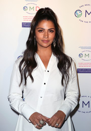 Camila Alves showed off some statement rings at the 'OMD' book launch party.