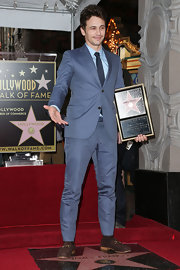 James Franco looked dashing and dapper in a blue suit while accepting his star on the Hollywood walk of fame.