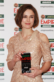 Keira Knightley kept her locks short and sweet for the Jameson Empire Awards in London. The actress parted her chic bob down the side for a sleek touch.