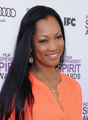 Garcelle Beauvais attended the 2012 Independent Spirit Awards wearing her long hair with a braided accent.