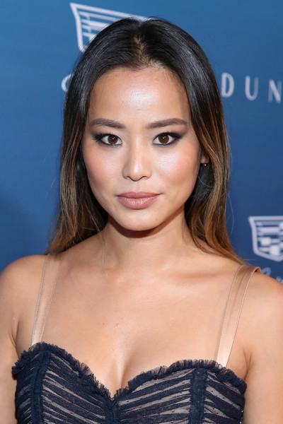 Jamie Chung Long Straight Cut [the art of elysium,hair,hairstyle,eyebrow,beauty,lip,brown hair,long hair,shoulder,black hair,blond,art of elysium presents michael muller,jamie chung,heaven,california,los angeles,heaven - arrivals]