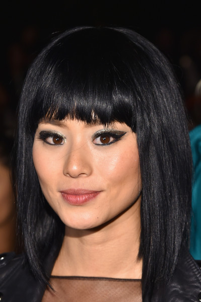 Jamie Chung Medium Straight Cut with Bangs
