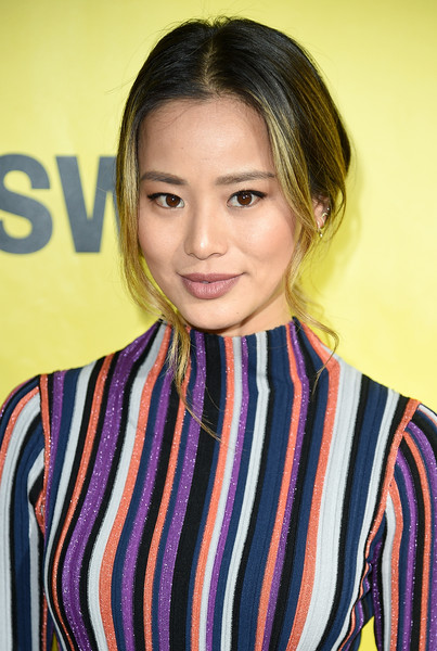 Jamie Chung Loose Ponytail [hair,face,hairstyle,beauty,lip,brown hair,long hair,smile,black hair,makeover,austin,texas,zach theatre,festivals,sxsw conference,premiere,jamie chung]