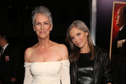 Jamie Lee Curtis Off-the-Shoulder Dress
