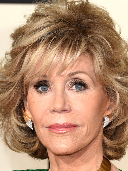 More Pics of Jane Fonda Curled Out Bob (3 of 10) - Jane Fonda Lookbook