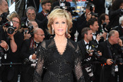 Jane Fonda Fringed Dress