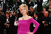 Jane Fonda Off-the-Shoulder Dress