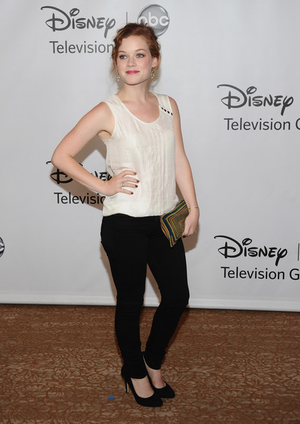 Jane Levy Skinny Pants [white,clothing,shoulder,fashion,footwear,leg,joint,waist,tights,shoe,arrivals,jane levy,beverly hills,california,beverly hilton hotel,abc television group,disney,disney abc televison group,tca 2011 summer press tour,tca 2001 summer press tour]