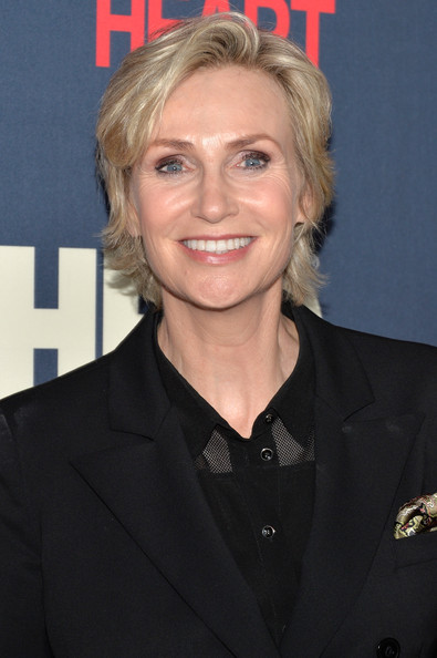 Jane Lynch Layered Razor Cut [the normal heart,hair,hairstyle,blond,official,premiere,jane lynch,part,nyc,ziegfeld theater,premiere]