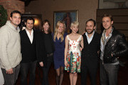 (L-R) Producer Jamie Patricof, producer Alex Orlovsky, producer Jane Rosenthal, producer Lynette Howell, actress Michelle Williams, director Derek Cianfrance, and actor Ryan Gosling attend Jane Rosenthal and Robert DeNiro Host Special Screening of