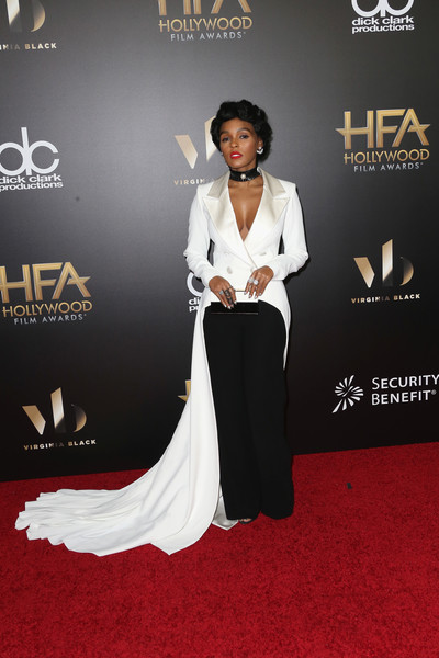 Janelle Monae Evening Coat