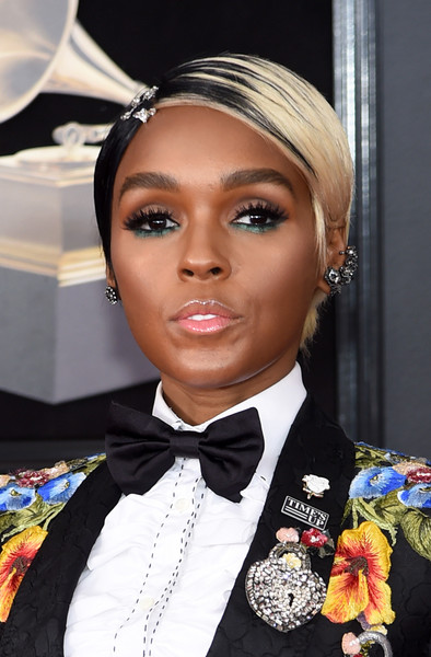 Janelle Monae Short Side Part
