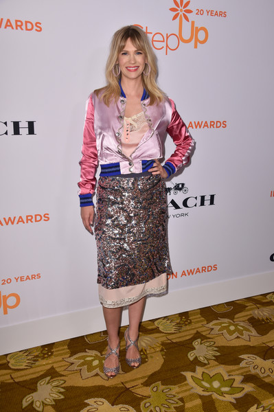 January Jones Varsity Jacket [step up,clothing,fashion,hairstyle,dress,footwear,carpet,fashion design,blond,long hair,flooring,january jones,14th annual inspiration awards,beverly hills,california,beverly wilshire four seasons hotel]
