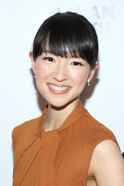 Marie Kondo looked cute and youthful wearing this updo with eye-grazing bangs at the Japan America Society of Southern California's 110th anniversary gala.