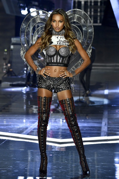 Jasmine Tookes Over the Knee Boots [fashion model,fashion show,catwalk,lingerie,runway,thigh,model,fashion,leg,public event,jasmine tookes,shanghai,runway,china,mercedes-benz arena,victorias secret,victorias secret fashion show,shanghai - show]