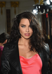 Adriana Lima was rocker-glam with her mussed-up curls at the Jason Wu fashion show.