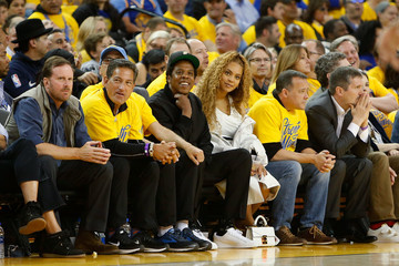 Jay-Z Beyonce Knowles New Orleans Pelicans vs. Golden State Warriors - Game One