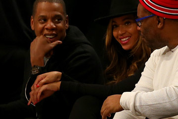 Jay-Z Beyonce Knowles Houston Rockets v Brooklyn Nets
