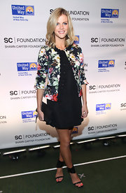 Brooklyn Decker arrived at a Jay-Z concert benefiting the United Way with a perfect pedicure that incorporated hot glossy coral polish.