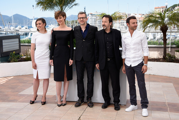 More Pics of Louise Bourgoin Evening Pumps (1 of 28) - Louise Bourgoin Lookbook - StyleBistro [je suis un soldat,photocall - the 68th annual cannes film festival,social group,event,suit,white-collar worker,formal wear,team,luxury vehicle,dress,tuxedo,ceremony,2ndl-r,director,guest,actor,photocall,cannes,france,cannes film festival on may 20]