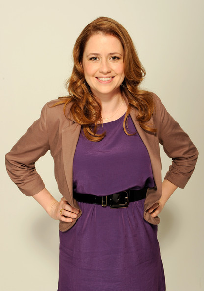 Jenna Fischer Long Side Part