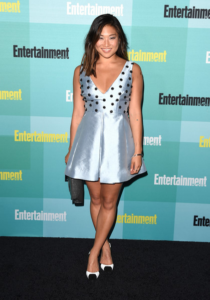 Jenna Ushkowitz Pumps [entertainment weekly hosts its annual comic-con party at float at the hard rock hotel,san diego in celebration of comic-con 2015 - arrivals,clothing,cocktail dress,dress,fashion,fashion model,premiere,footwear,carpet,leg,event,jenna ushkowitz,float,the hard rock hotel,san diego,entertainment weekly,hbo,honda,comic-con 2015 party]