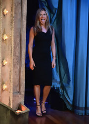 Jennifer stuck to a classic LBD for her appearance at 'Late Night With Jimmy Fallon.'