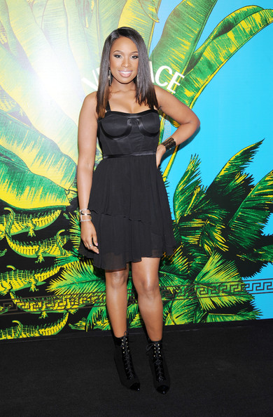Jennifer Hudson Lace Up Boots