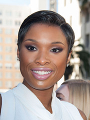 Jennifer Hudson styled her hair in a slick pixie for her Hollywood Walk of Fame ceremony.