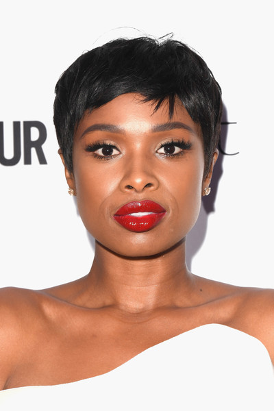 Jennifer Hudson Pixie [eyebrow,beauty,lip,chin,hairstyle,cheek,forehead,black hair,fashion model,long hair,jennifer hudson,glamour women of the year awards,awards,england,london,berkeley square gardens,red carpet arrivals,glamour women of the year]