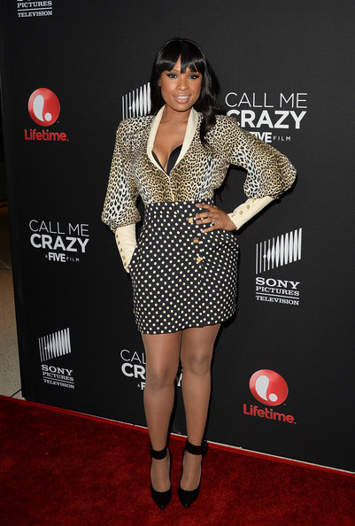 Jennifer Hudson Print Blouse [call me crazy: a five film,clothing,red carpet,carpet,dress,fashion,leg,footwear,flooring,premiere,joint,jennifer hudson,arrivals,actress,pacific design center,west hollywood,california,lifetime,premiere,premiere]