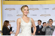 Jennifer Lawrence Metallic Clutch
