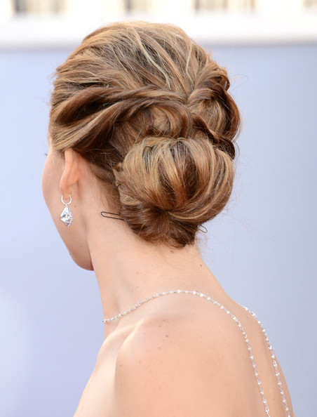 Jennifer Lawrence Twisted Bun