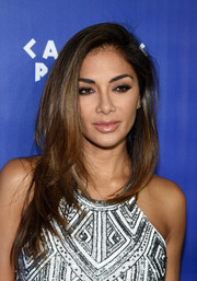 Nicole Scherzinger amped up her pout with lots of lipgloss.