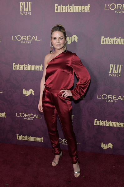 Jennifer Morrison Evening Sandals [red,maroon,carpet,red carpet,flooring,premiere,performance,arrivals,jennifer morrison,los angeles,california,sunset tower,entertainment weekly,loreal paris hosts,party,loreal paris,pre-emmy party]