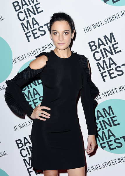 Jenny Slate Diamond Ring [little black dress,shoulder,joint,fashion,dress,cocktail dress,premiere,style,black hair,magazine,jenny slate,landline,new york,bam harvey theater,bamcinemafest 2017,screening,screening]