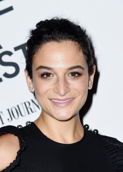 Jenny Slate Classic Bun [hair,face,hairstyle,eyebrow,forehead,chin,beauty,skin,black hair,shoulder,jenny slate,landline,new york,bam harvey theater,bamcinemafest 2017,screening,screening]