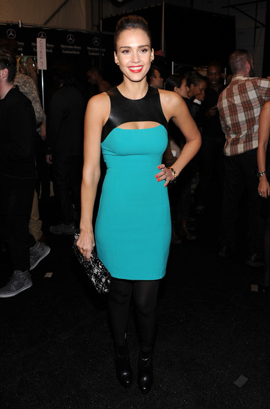 Jessica Alba Cutout Dress