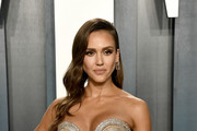 Jessica Alba Metallic Clutch